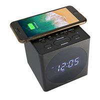Speaker Wireless charging alarm clock black丨YM-612B-Black